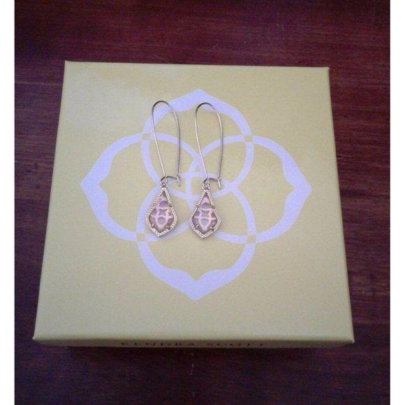 Kendra Scott Peach Iridescent Pink Lori Earrings